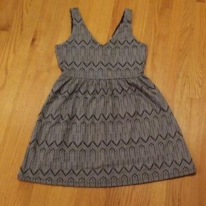 Lucky Brand Black and Gray Geometrical Dress Sz M